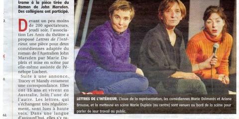 article presse lettres de l'interieur à Dreux
